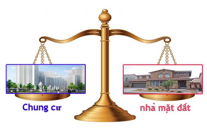 Sự cân bằng giữa nhà đất và nhà chưng cư