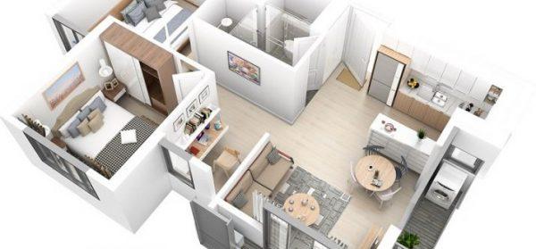 thiết kế căn hộ tại Vinhomes Tây mỗ
