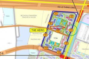 Khu vực tòa nhà H3 The Hero