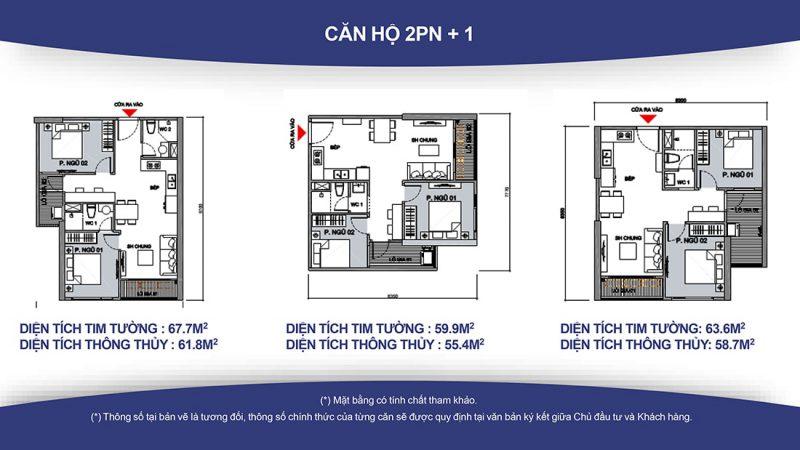 Thiết kế 2 phòng ngủ Vinhomes Smart City