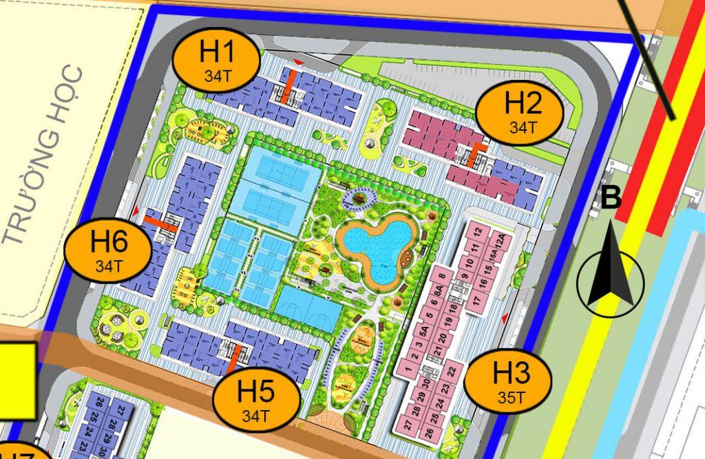 Hình ảnh vị trí tòa H6 ( S1.06 Vinhomes Smart City