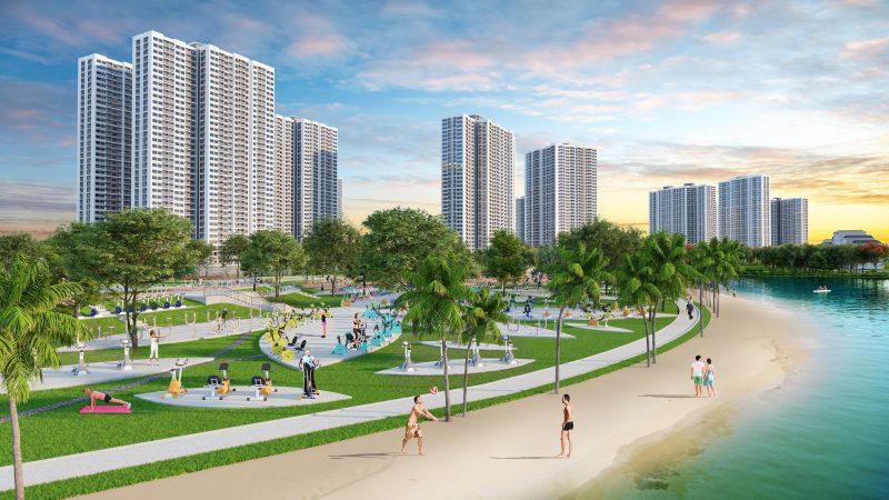 không gian xanh tại chung cư Vinhomes Smart City