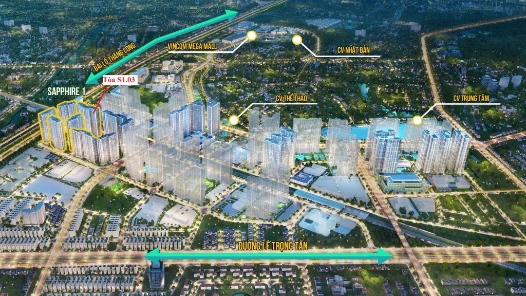 vị trí s1.03 vinhomes smart city