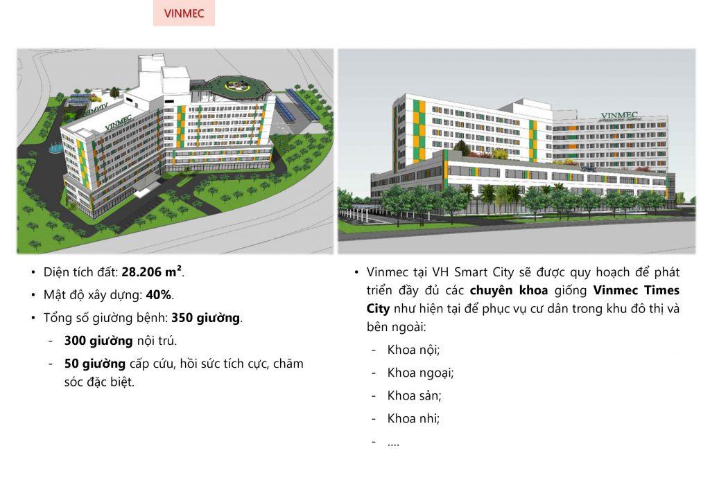Quy mô bệnh viện Vinmec tại dự án Vinhomes Smart City