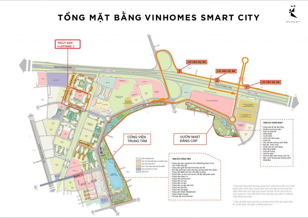 mặt bằng phân khu sapphire 2 vinhomes smart city