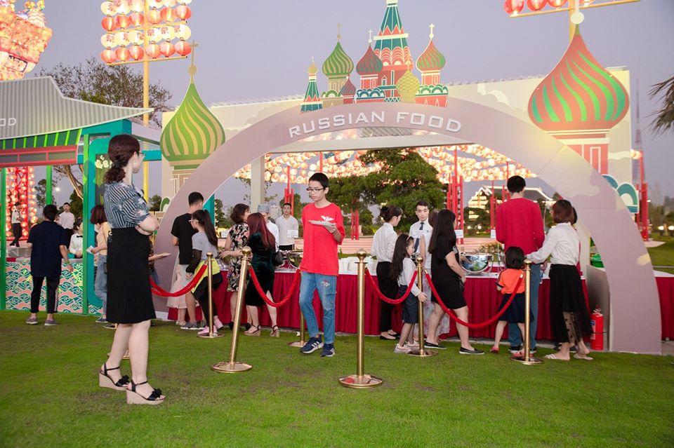 sự kiện BBQ diễn ra tại vườn nhật vinhomes smart city
