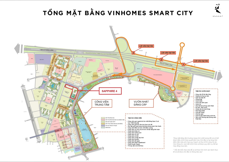 vị trí Sapphire 4 Vinhomes Smart City