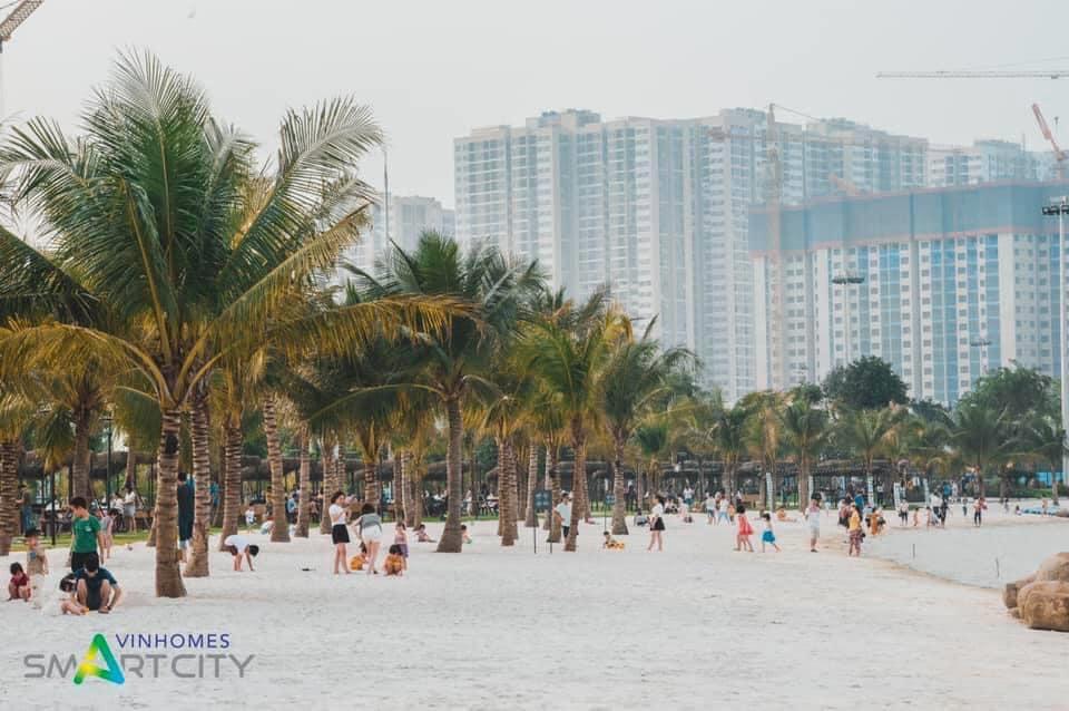 Hồ trung tâm tại Vinhomes Smart City
