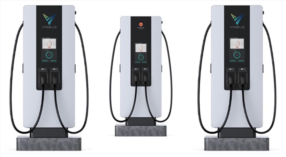 Hình ảnh hệ thống trạm sạc của Star Charge cung cấp cho Vinbus